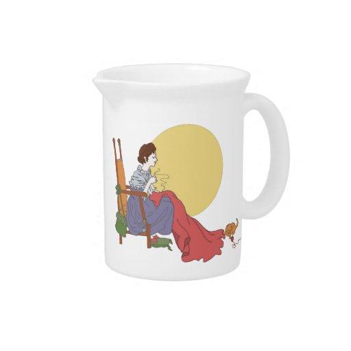 Círculo de costura jarras de beber