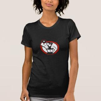 Círculo de elevación femenino del lado de la aptit camisetas