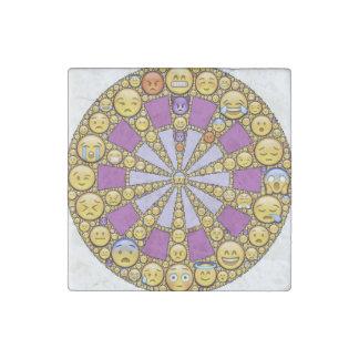 Círculo de emociones imán de piedra