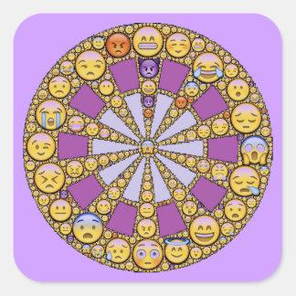 Círculo de emociones pegatina cuadrada