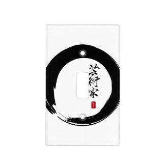 Círculo de Enso y caligrafía del artista Tapas Para Interruptores