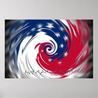 Círculo de giro del poster de la independencia