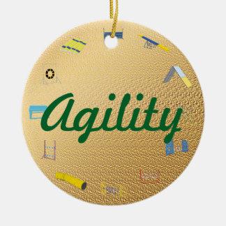 Círculo de la agilidad adorno navideño redondo de cerámica
