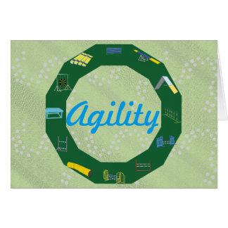 Círculo de la agilidad tarjeta de felicitación