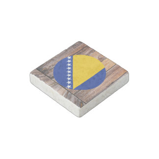 Círculo de la bandera de Bosnia y Hercegovina en Imán De Piedra