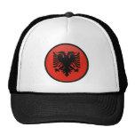 Círculo de la bandera de la calidad de Albania Gorro