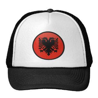 Círculo de la bandera de la calidad de Albania Gorras