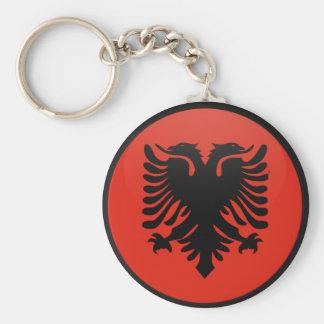 Círculo de la bandera de la calidad de Albania Llavero Redondo Tipo Pin