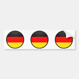 Círculo de la bandera de la calidad de Alemania Pegatina Para Auto