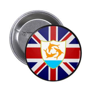 Círculo de la bandera de la calidad de Anguila Pin