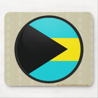 Círculo de la bandera de la calidad de Bahamas Alfombrillas De Ratones