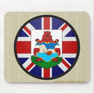 Círculo de la bandera de la calidad de Bermudas Alfombrilla De Raton