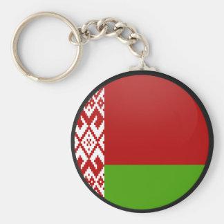 Círculo de la bandera de la calidad de Bielorrusia Llavero Redondo Tipo Pin