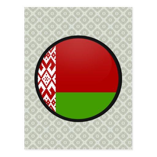 Círculo de la bandera de la calidad de Bielorrusia Tarjeta Postal