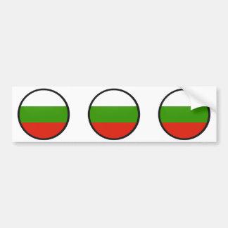 Círculo de la bandera de la calidad de Bulgaria Etiqueta De Parachoque