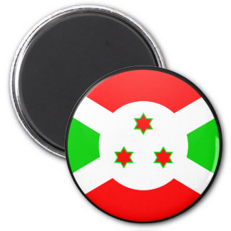 Círculo de la bandera de la calidad de Burundi Imán Para Frigorifico
