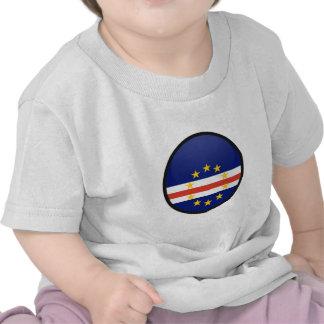 Círculo de la bandera de la calidad de Cabo Verde Camisetas