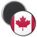 Círculo de la bandera de la calidad de Canadá Imán Para Frigorifico