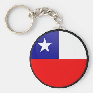 Círculo de la bandera de la calidad de Chile Llavero Redondo Tipo Pin
