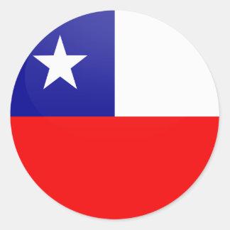 Círculo de la bandera de la calidad de Chile Pegatina Redonda