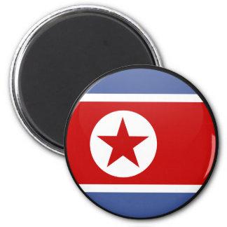 Círculo de la bandera de la calidad de Corea del N Iman Para Frigorífico