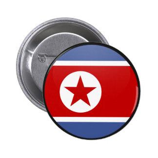 Círculo de la bandera de la calidad de Corea del N Pins