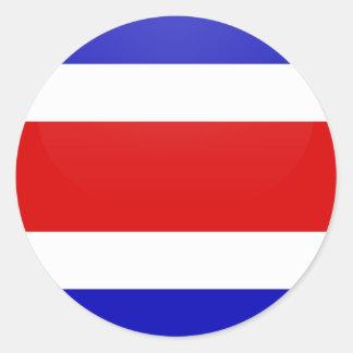 Círculo de la bandera de la calidad de Costa Rica Pegatina