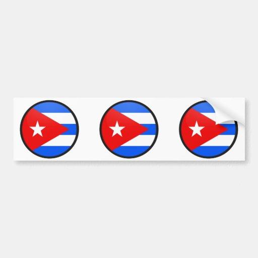 Círculo de la bandera de la calidad de Cuba Pegatina De Parachoque