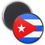 Círculo de la bandera de la calidad de Cuba Iman Para Frigorífico
