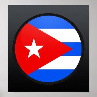 Círculo de la bandera de la calidad de Cuba Posters