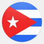 Círculo de la bandera de la calidad de Cuba Pegatinas Redondas