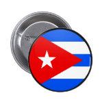Círculo de la bandera de la calidad de Cuba Pin Redondo 5 Cm