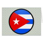 Círculo de la bandera de la calidad de Cuba Tarjeta