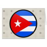 Círculo de la bandera de la calidad de Cuba Felicitación