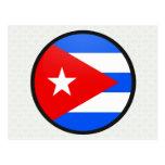 Círculo de la bandera de la calidad de Cuba Tarjeta Postal