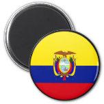 Círculo de la bandera de la calidad de Ecuador Iman