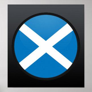 Círculo de la bandera de la calidad de Escocia Poster