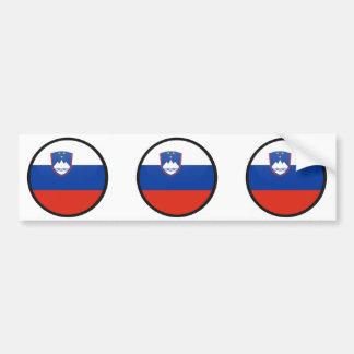 Círculo de la bandera de la calidad de Eslovenia Pegatina Para Auto