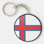 Círculo de la bandera de la calidad de Faroe Islan Llaveros Personalizados