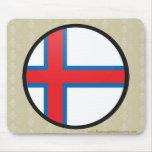 Círculo de la bandera de la calidad de Faroe Islan Tapetes De Raton