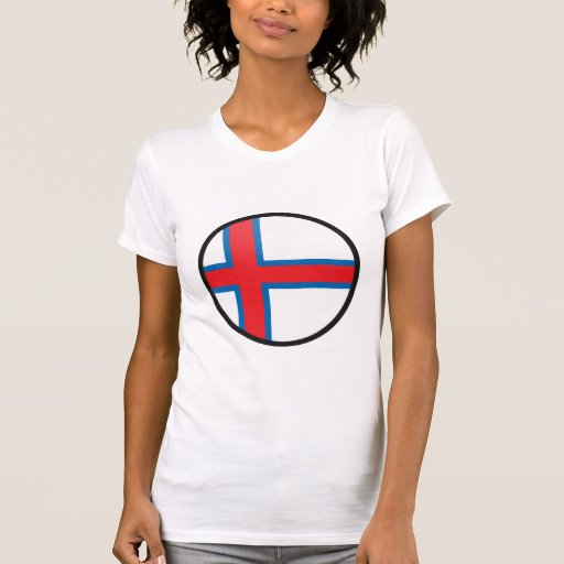 Círculo de la bandera de la calidad de Faroe Camiseta