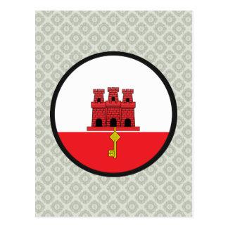 Círculo de la bandera de la calidad de Gibraltar Postales