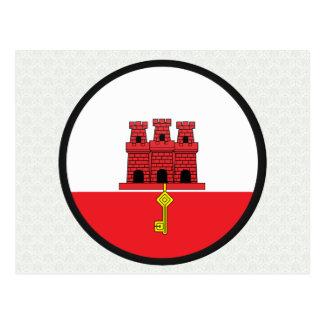 Círculo de la bandera de la calidad de Gibraltar Tarjetas Postales