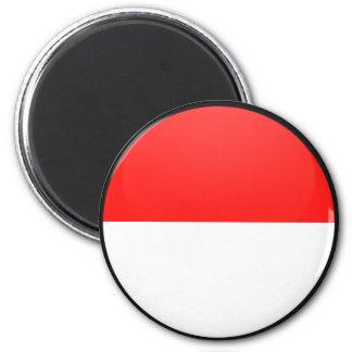 Círculo de la bandera de la calidad de Indonesia Iman De Frigorífico