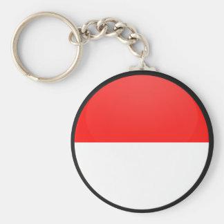 Círculo de la bandera de la calidad de Indonesia Llaveros