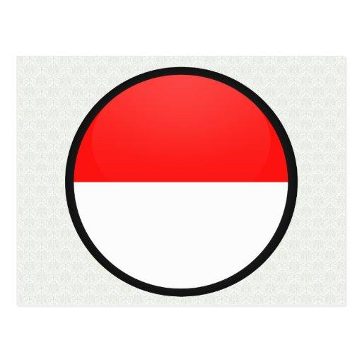Círculo de la bandera de la calidad de Indonesia Tarjeta Postal