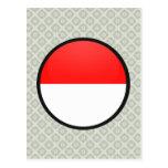 Círculo de la bandera de la calidad de Indonesia Postal