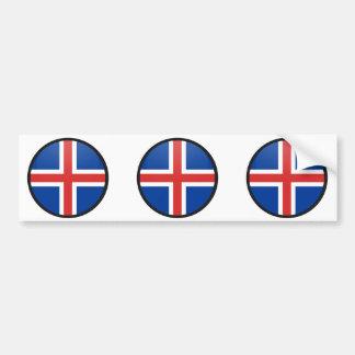 Círculo de la bandera de la calidad de Islandia Pegatina Para Auto