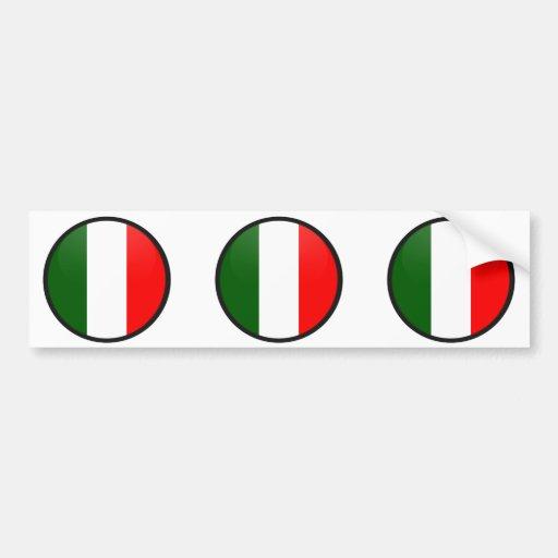 Círculo de la bandera de la calidad de Italia Pegatina De Parachoque