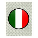 Círculo de la bandera de la calidad de Italia Tarjetas Postales